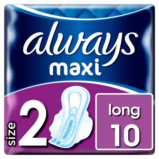 image 1 of Always Maxi Long Sanitary Towels With Wings 10
