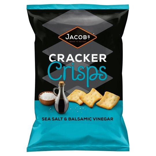 Jacobs Cracker Crisps Sea Salt & Balsamic Vinegar 150G