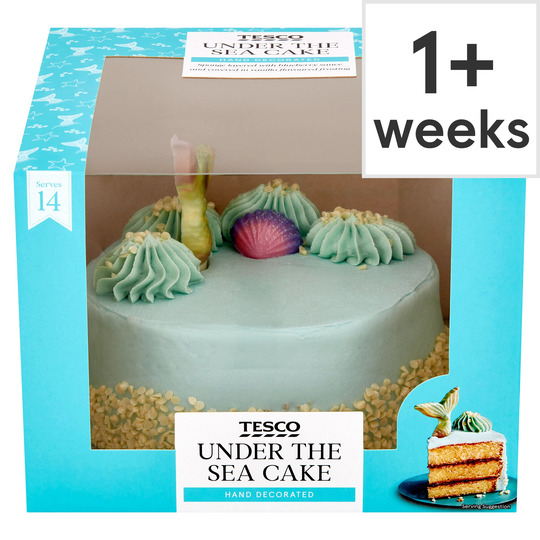 Magnificent Tesco Under The Sea Cake Tesco Groceries Funny Birthday Cards Online Eattedamsfinfo