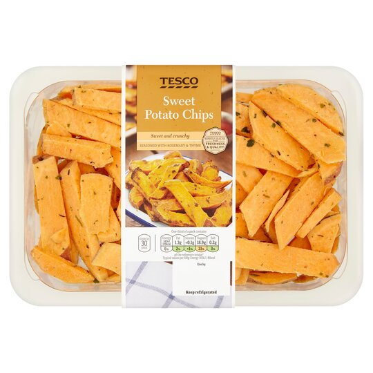 Tesco Sweet Potato Chips With Herbs 450g Tesco Groceries