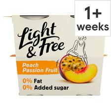 image 1 of Light & Free Greek Style Free Passion Fruit Yogurt 4X115g