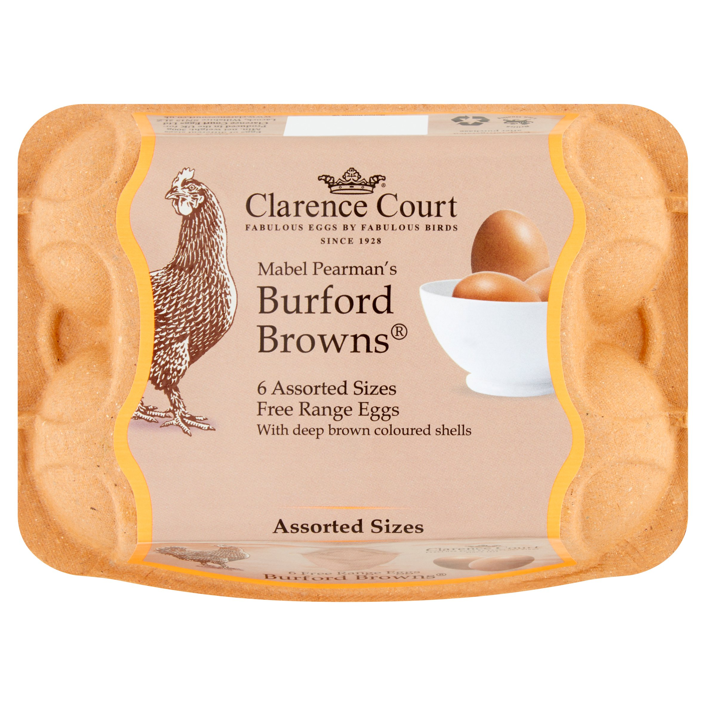 Clarence Court Burford Browns Free Range Eggs 6 Pack