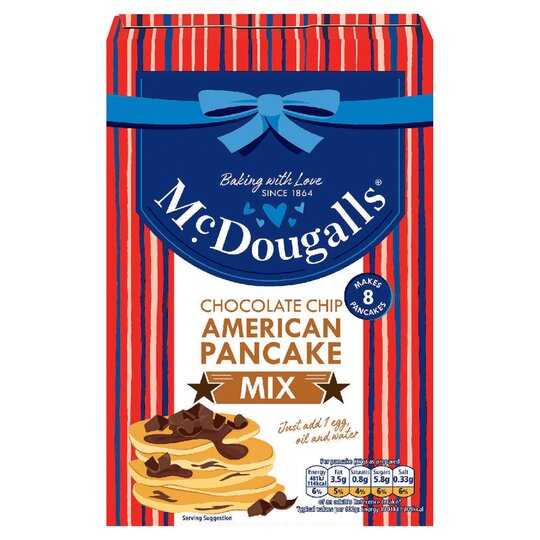 Mcdougalls Chocolate Chip American Pancake Mix 192g Tesco Groceries