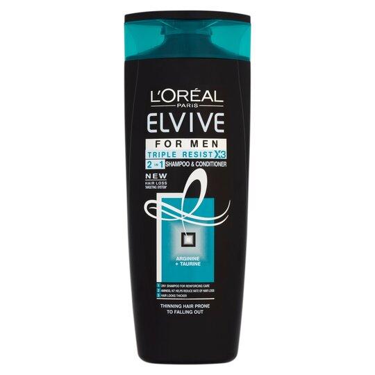 L'oreal Elvive Men Triple Resist Shampoo 500Ml