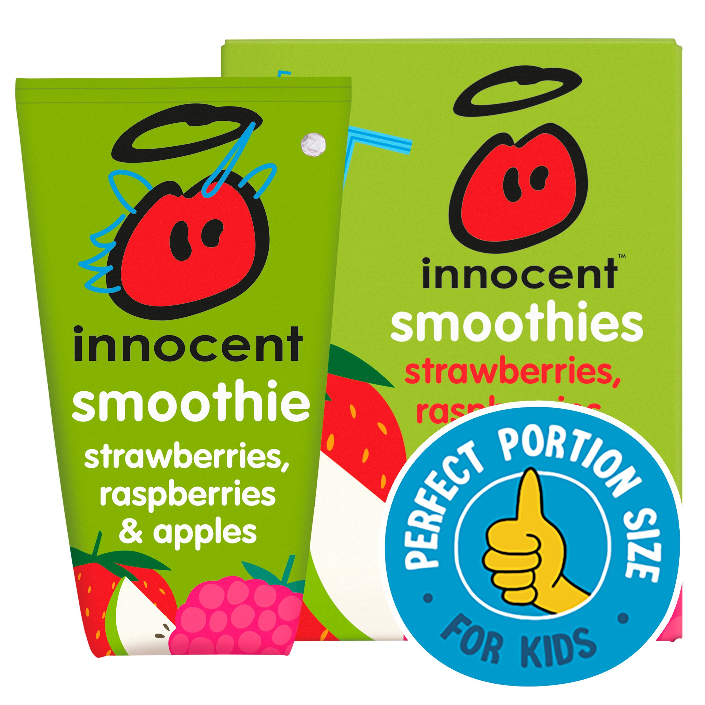 Innocent Kids Strawberry Raspberry & Apple 4X150ml