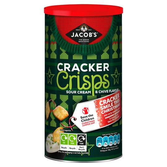 Jacobs Cracker Crisps Sour Cream & Chive 230G