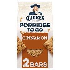 image 1 of Quaker Porridge To Go Cinnamon Bar 2X55g