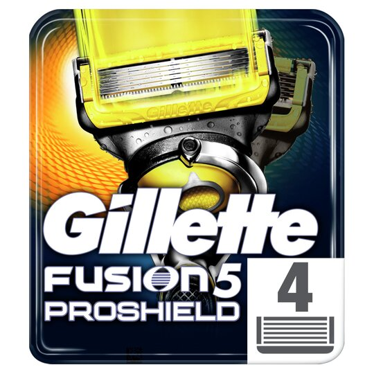 image 1 of Gillette Fusion Proshield Blades Refill 4 Pack