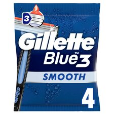 image 1 of Gillette Blue 3 Disposable Razors 4 Pack