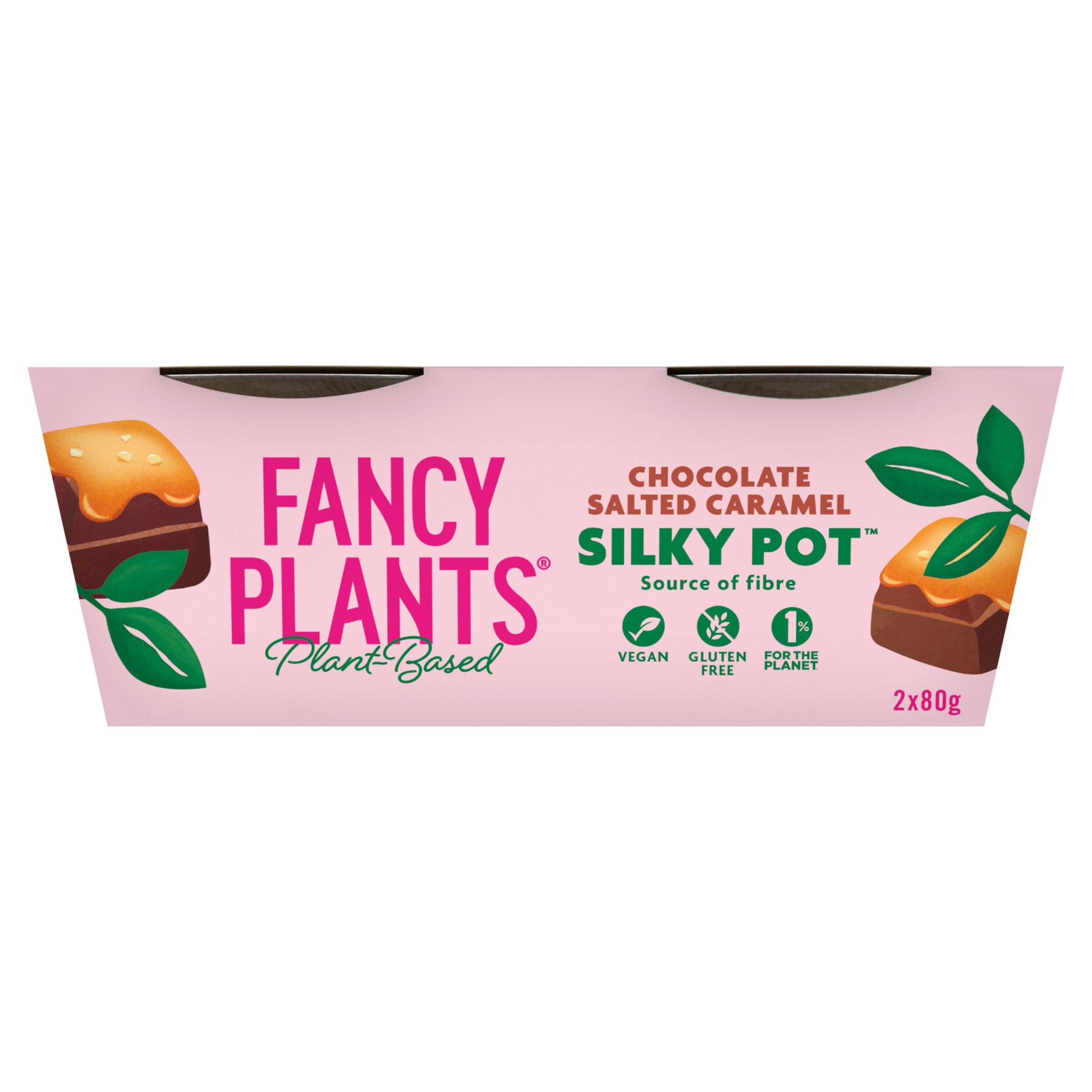 Fancy Plants Chocolate Salted Caramel Silky Pot 2X80g