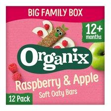 image 1 of Organix Goodies Raspberry & Apple Bars 12X30g