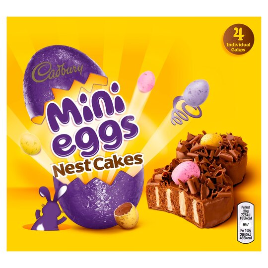 Cadbury 4 Mini Egg Nest Cakes