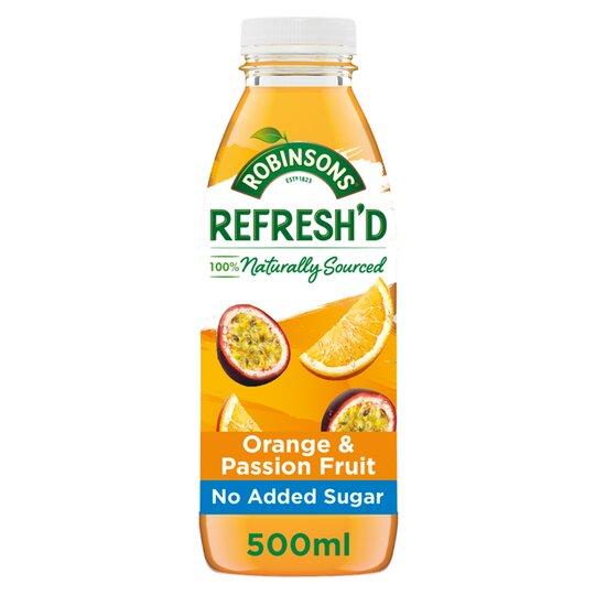 Robinsons Refresh'd Orange & Passion Fruit 500Ml