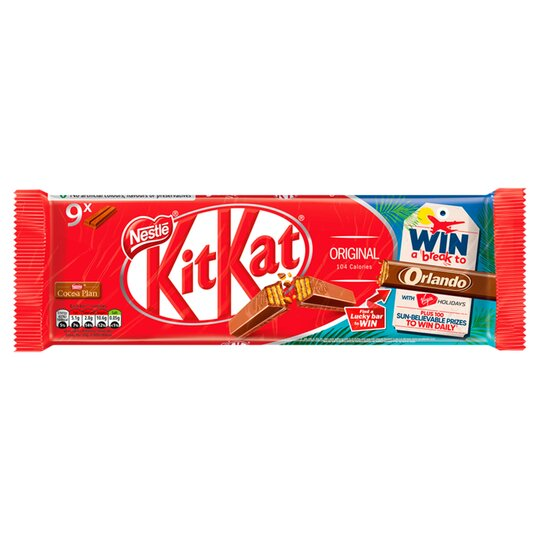 Kit Kat 2 Finger Milk Chocolate Biscuits 9 Pack 186.3G