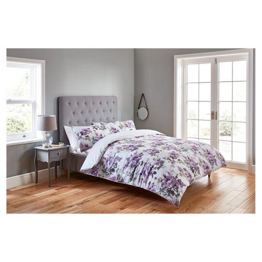 Fox Ivy Painted Fl Duvet Set, Double Bedding Tesco