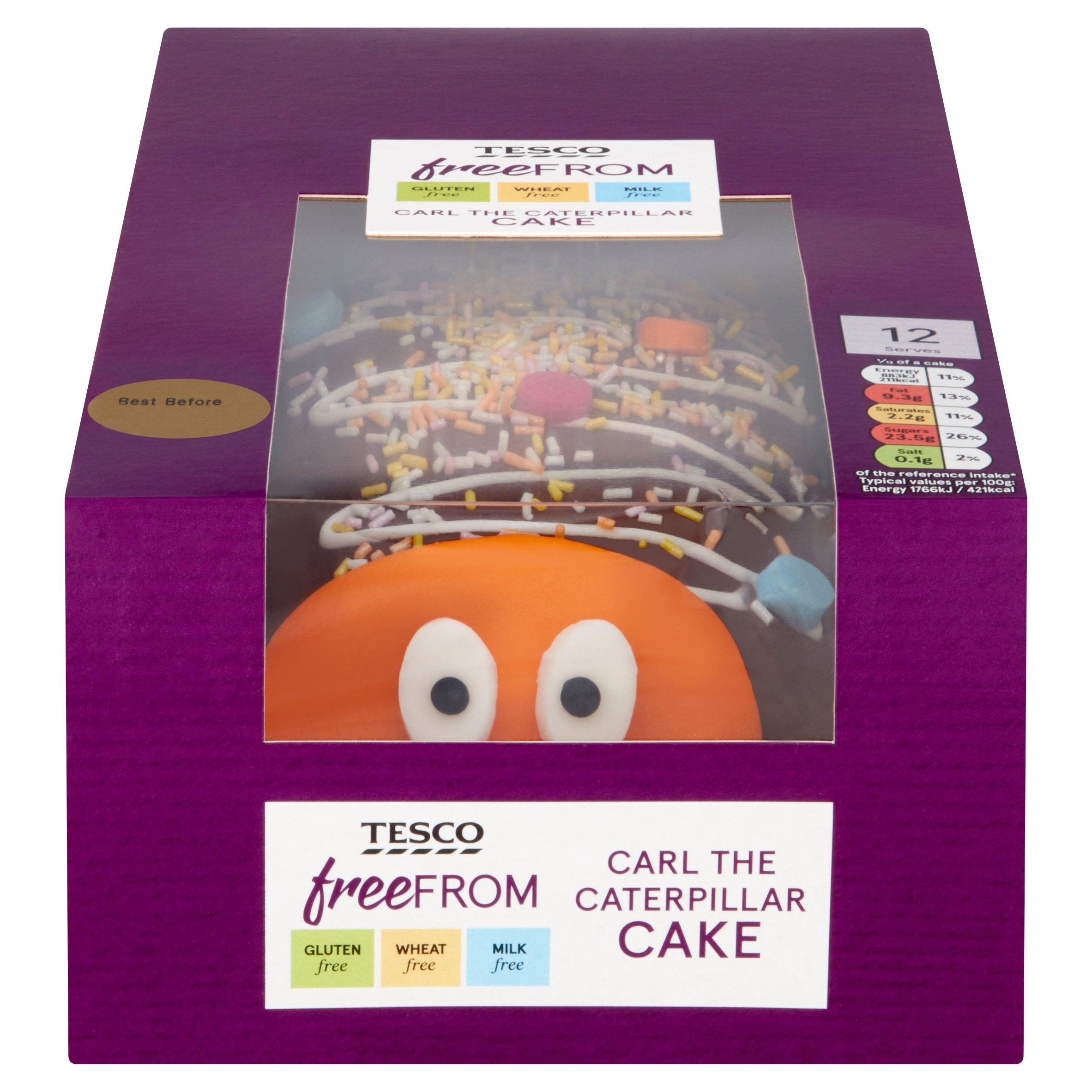 Tesco Free From Carl The Caterpillar Cake
