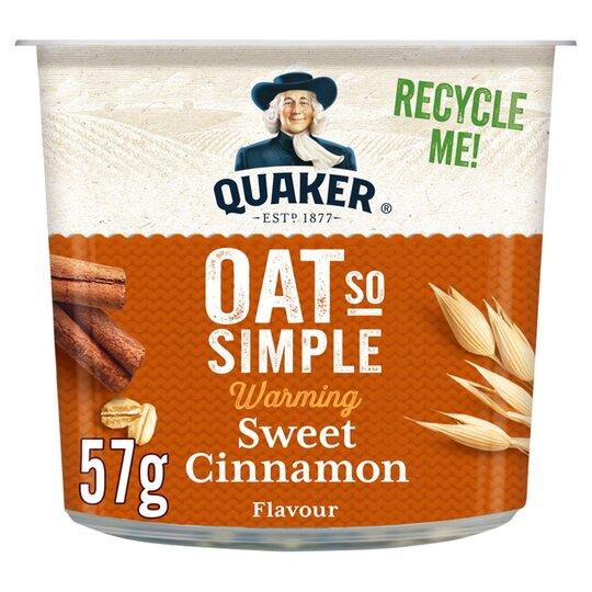 image 1 of Quaker Oat So Simple Sweet Cinnamon Porridge 57G
