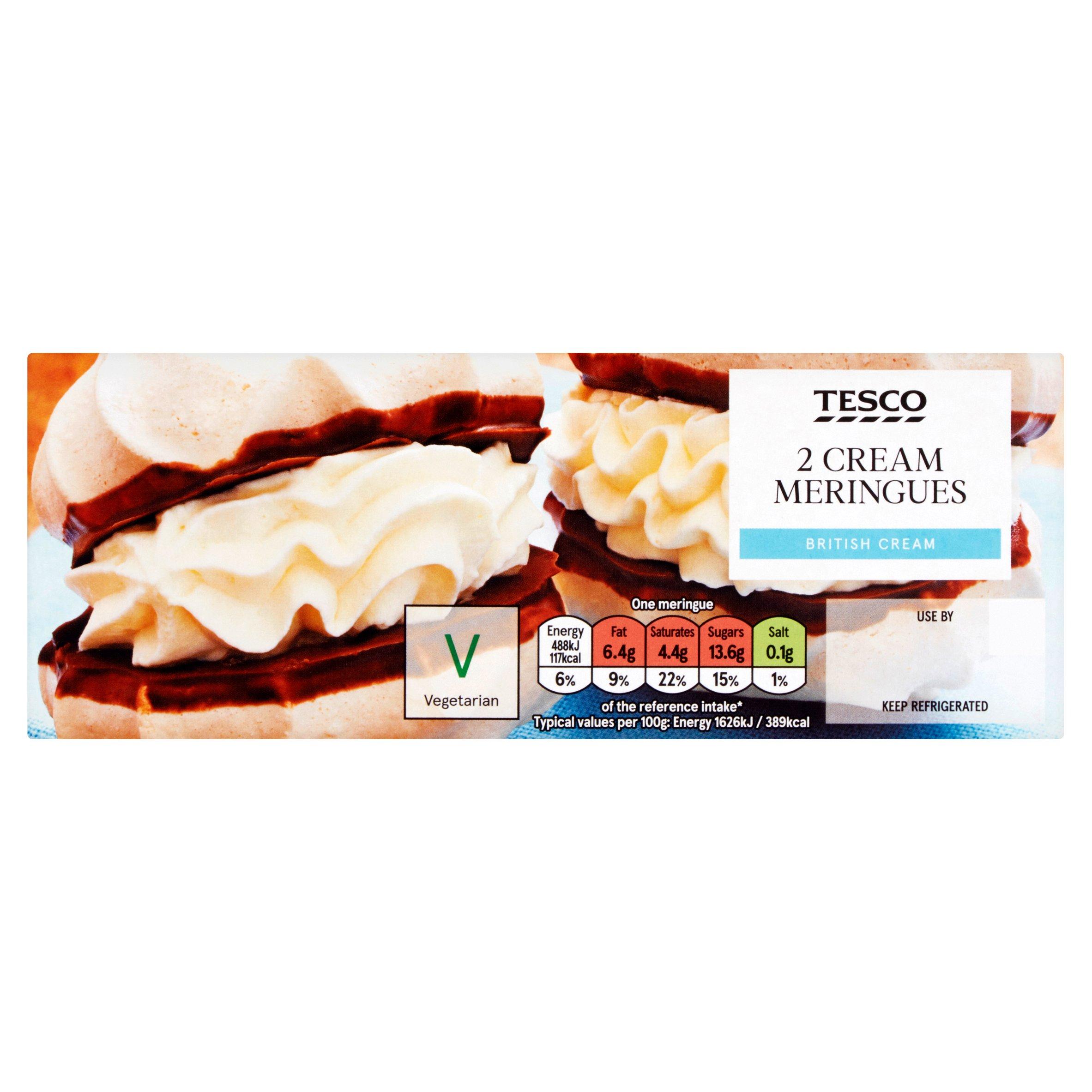 Tesco Fresh Cream Meringues 2 Pack