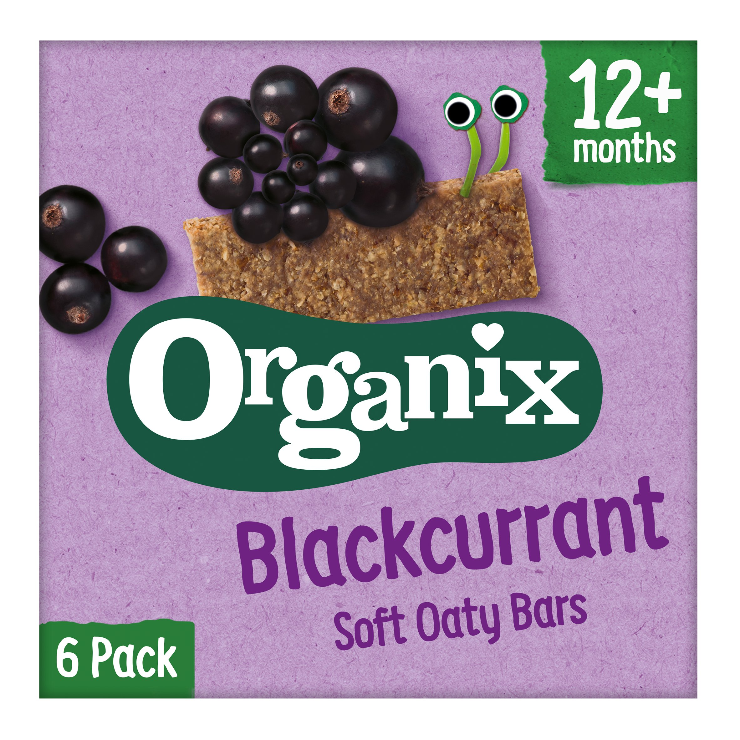 Organix 12 Month Blackcurrant Fruit & Cereal Bar 6X30g