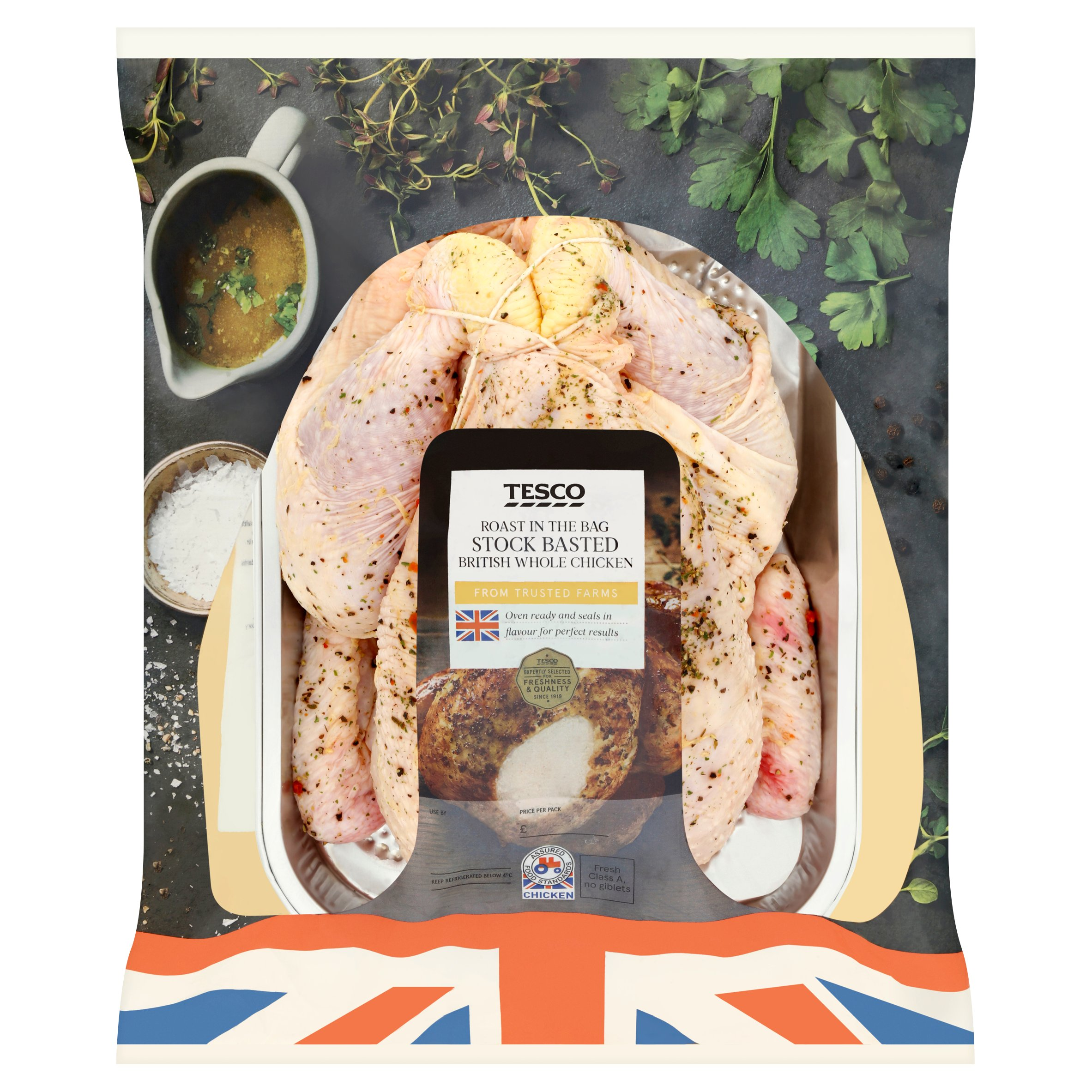 Tesco Roast In Bag Ready Basted Whole Chicken 1.5Kg
