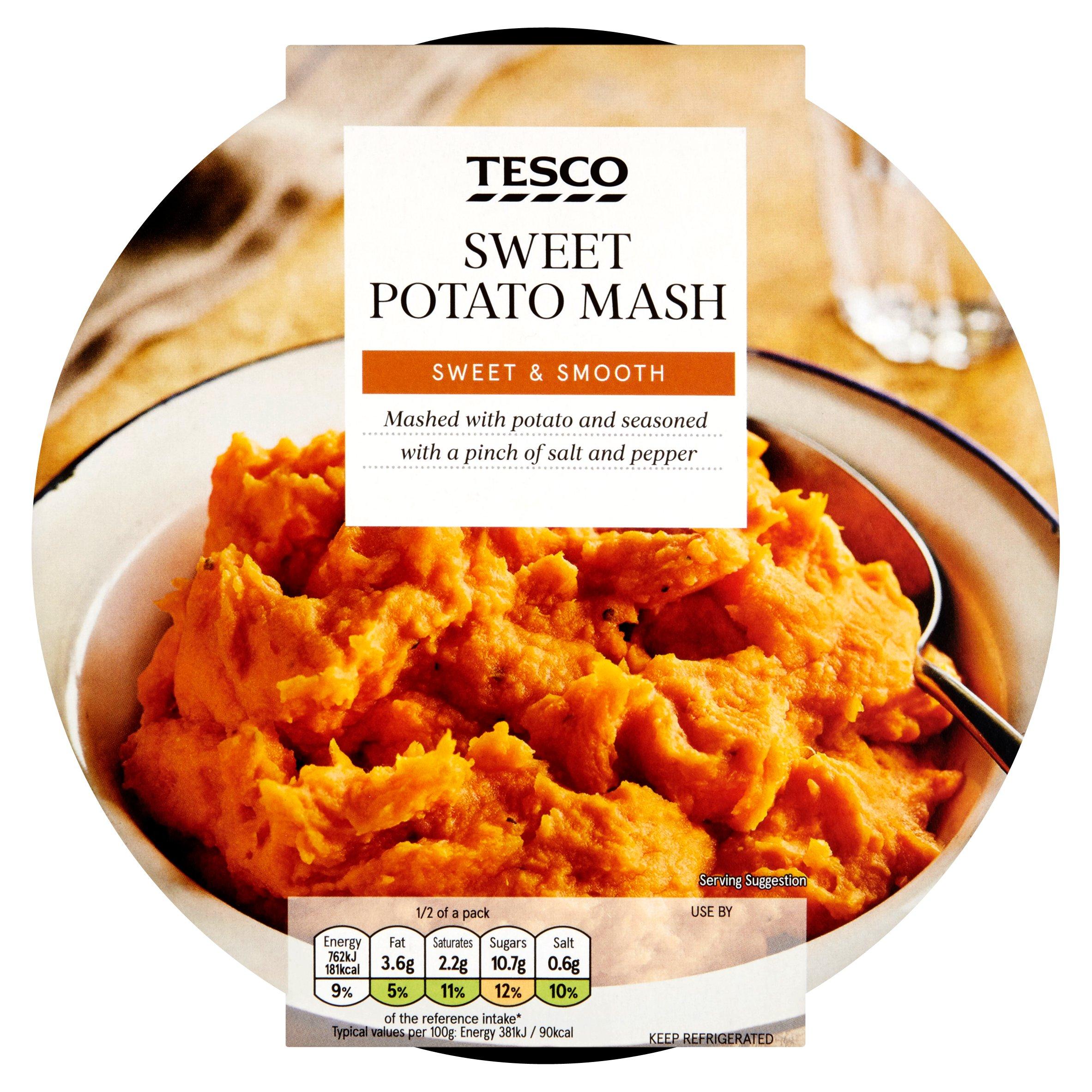 TESCO > Fresh Food > Tesco Sweet Potato Mash 400G