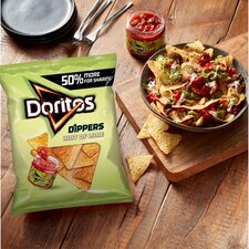 image 4 of Doritos Dippers Hint Of Lime Tortilla Chips 270G