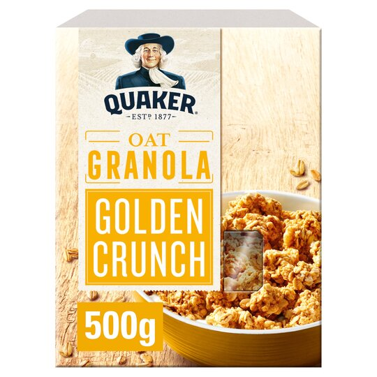 Quaker Oat Granola Golden Crunch 500G