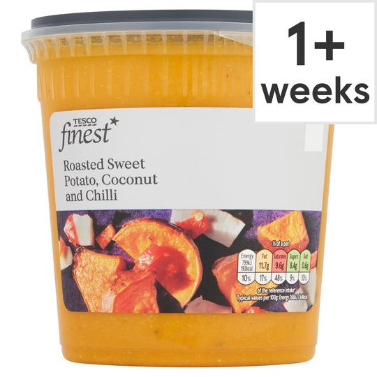 Tesco Finest Sweet Potato Coconut Chilli Soup 600g