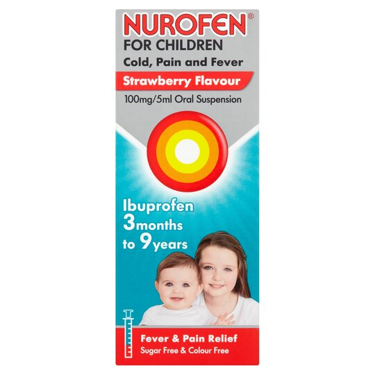 Nurofen Children Cold & Flu Strawberry 100Ml - Tesco Groceries