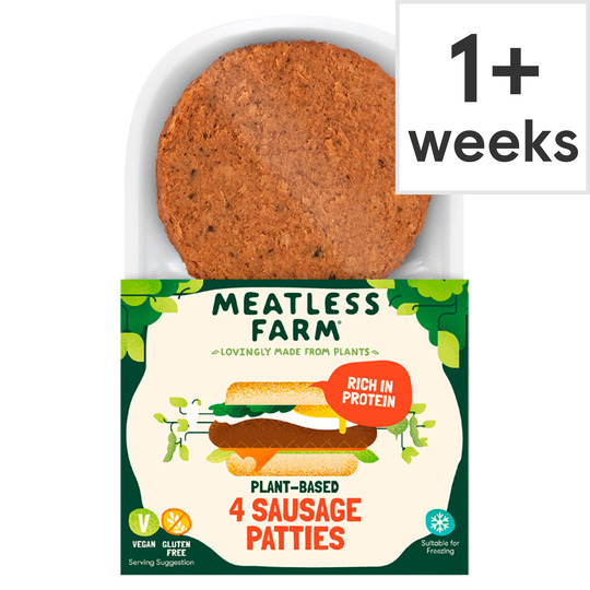 Meatless Farm 4 Plant Based Sausages Patties 240G