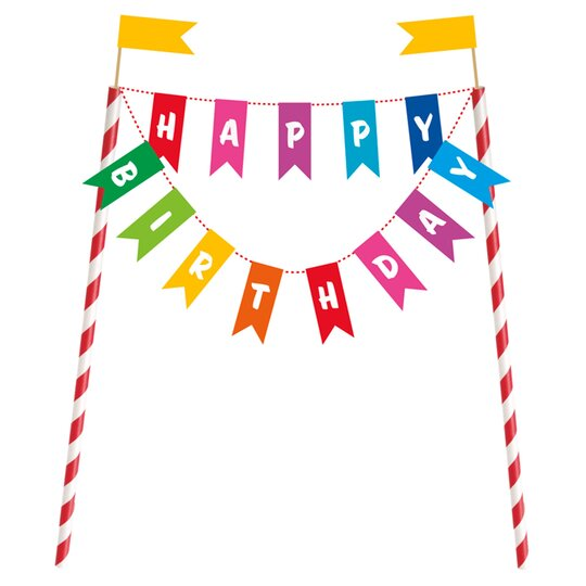 Swell Bunting Cake Topper Tesco Groceries Personalised Birthday Cards Paralily Jamesorg