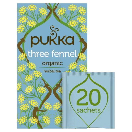 Pukka Organic Three Fennel 20S 36G