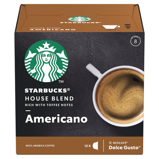 Nescafe Dolce Gusto Starbucks House Blend 12 Capsules 102g