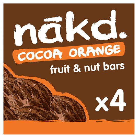 Nakd Cocoa Orange Bars 4 Pack 140G