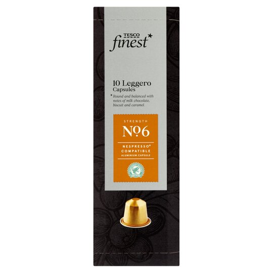Tesco Finest 10 Leggro Coffee Capsules 54g