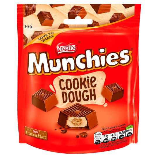 Munchies Cookie Dough Pouch Bag 101G