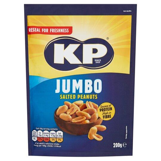 image 1 of Kp Jumbo Salted Peanuts 200G