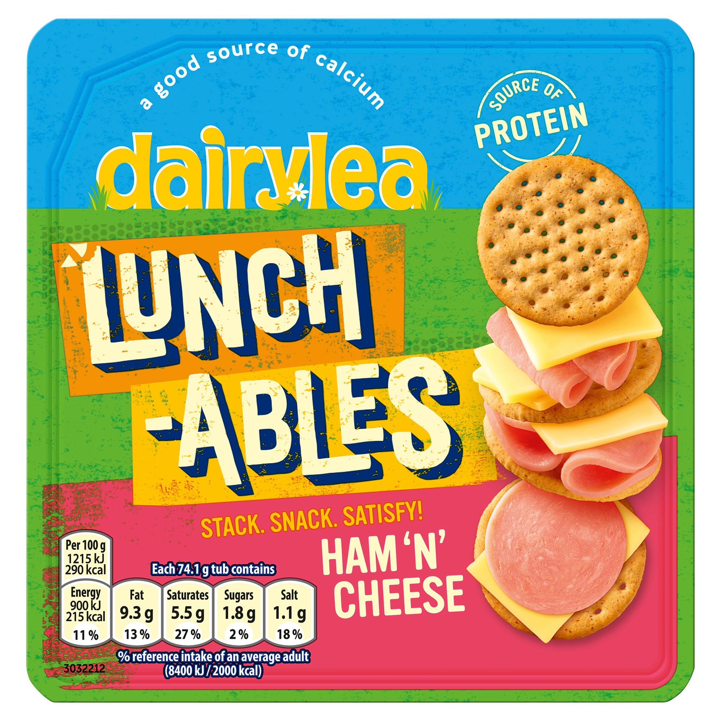 Dairylea Lunchables Ham & Cheese 74.1G