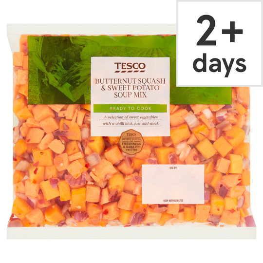 Tesco Butternut Squash Sweet Potato Soup Mix 600g