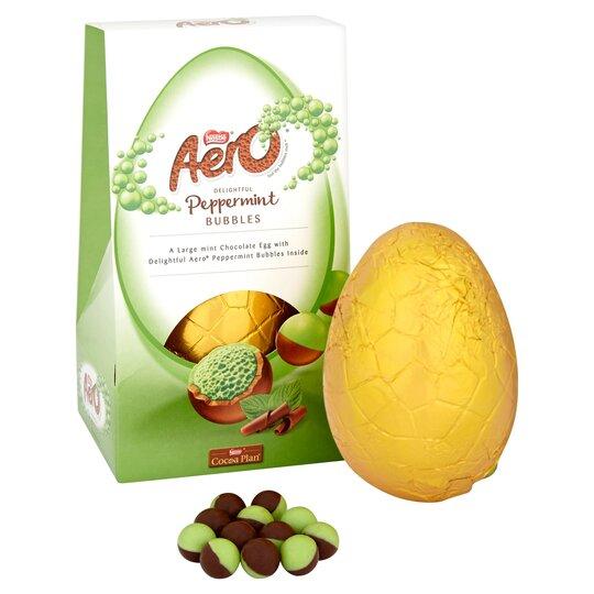 image 1 of Nestle Aero Bubble Peppermint Easter Egg 235G