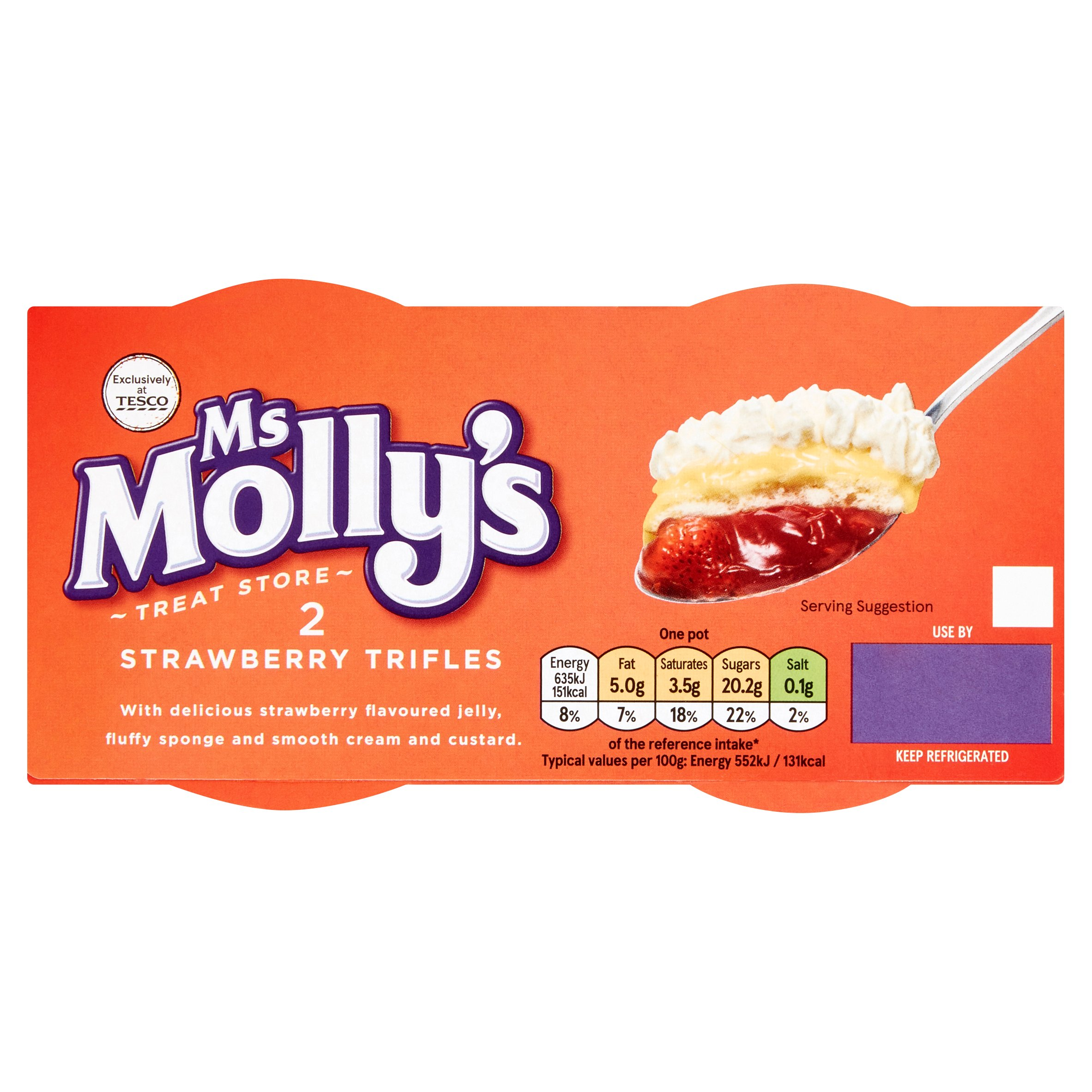 Ms Molly's Strawberry Trifle (2X115g) 230G