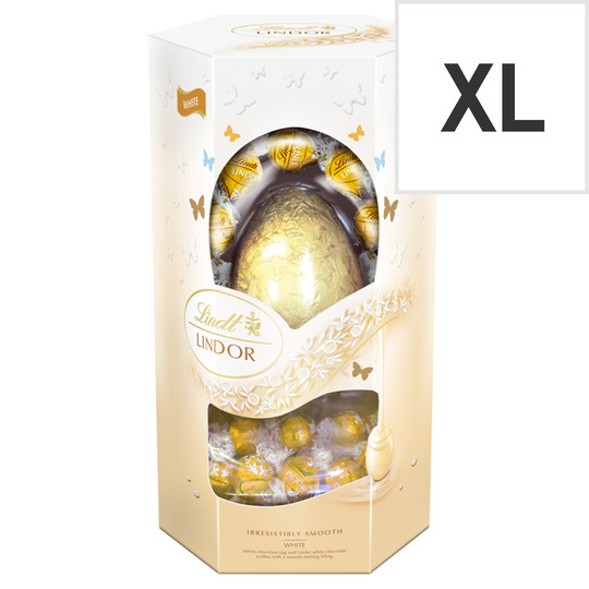 Lindt Lindor White Chocolate Egg With Truffles 348g