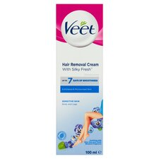 Veet Sensitive Hair Removal Cream 100ml Tesco Groceries