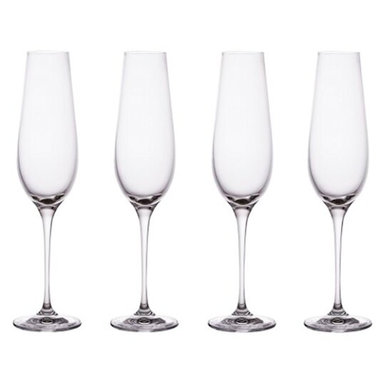 Fox Ivy Champagne Flute Crystal Glass4pk Tesco Groceries