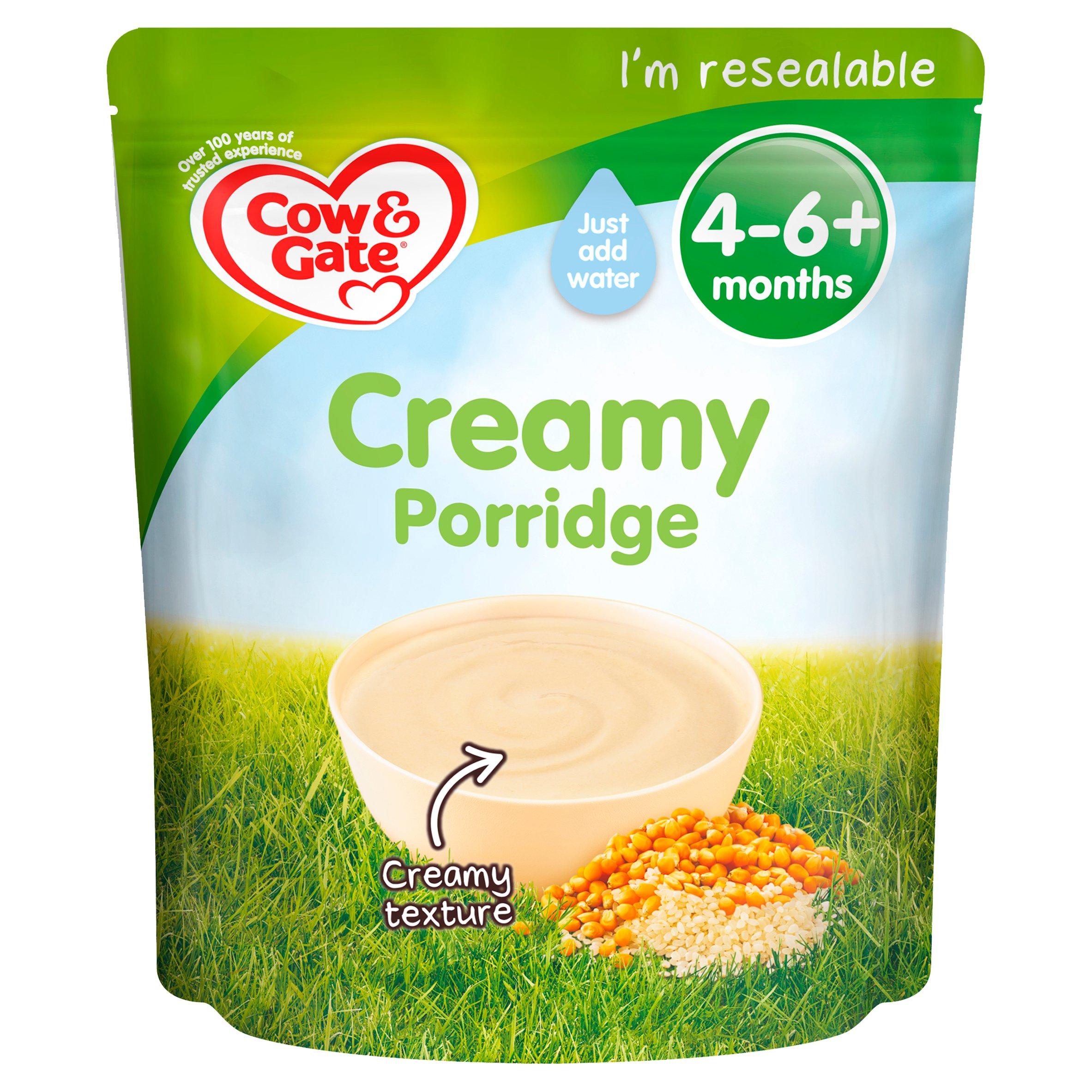 Cow & Gate Creamy Porridge Baby Cereal 4-6 Months 125G