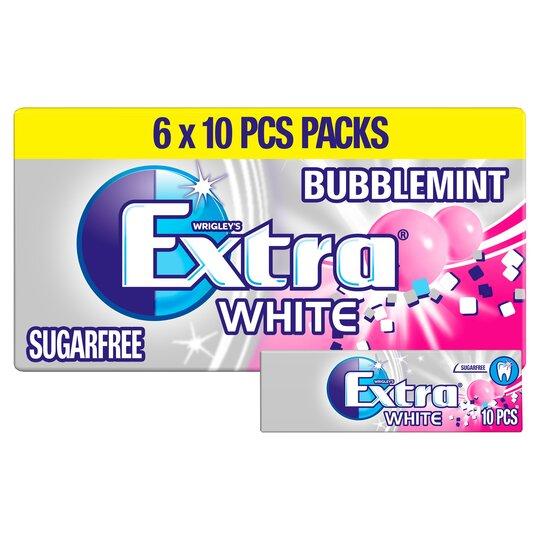 Wrigley's Extra White Bubblemint 6X10 Pieces 84G