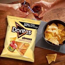image 3 of Doritos Dippers Lightly Salted Tortilla Chips 270G