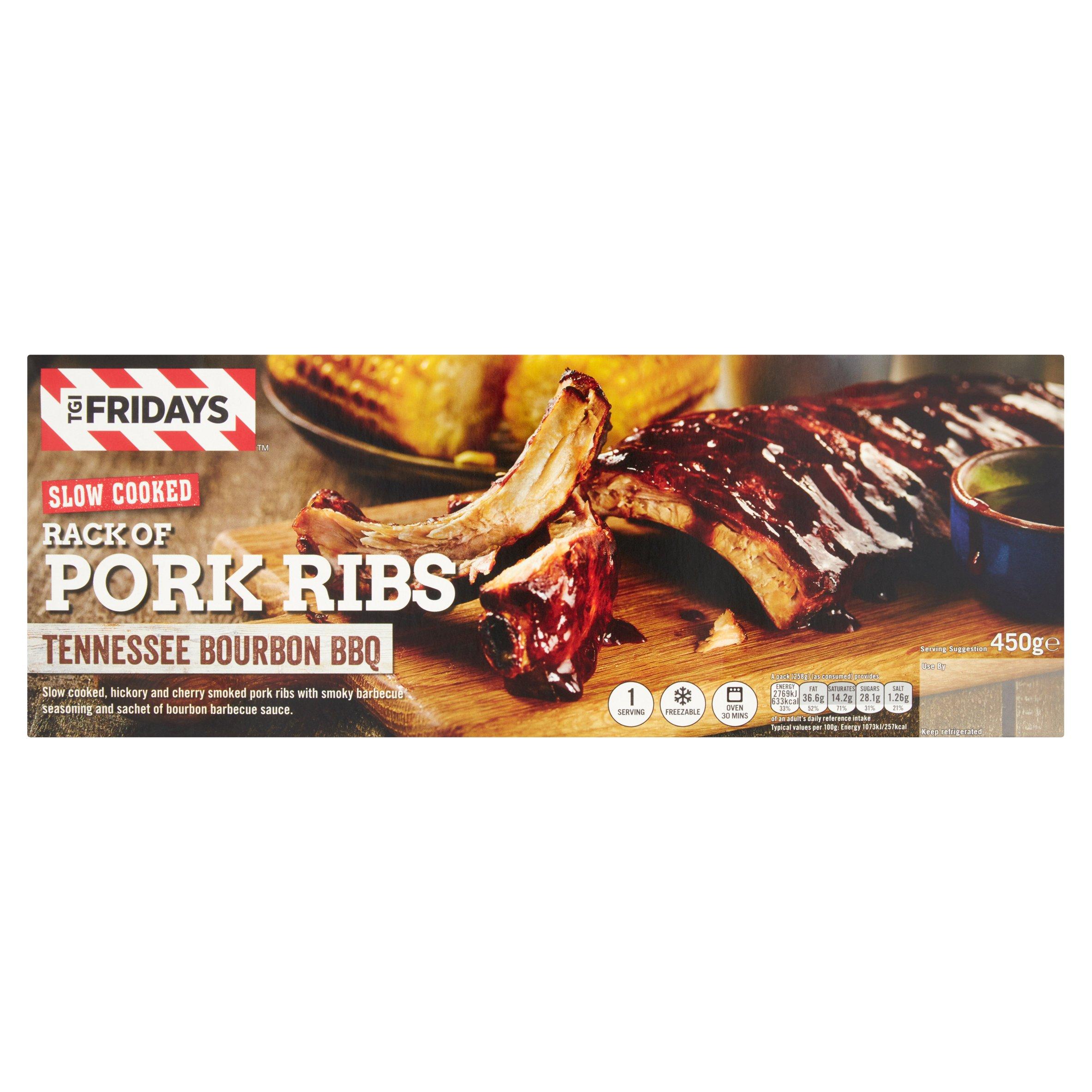 Tgi Smoked Pork Ribs With Bourbon Bbq Sauce 450G