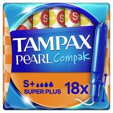 image 1 of Tampax Pearl Compak Super+ Applicator Tampons 18