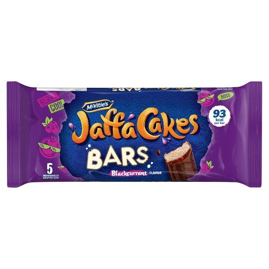 Mcvities Jaffa Blackcurrant Cake Bars 5Pack
